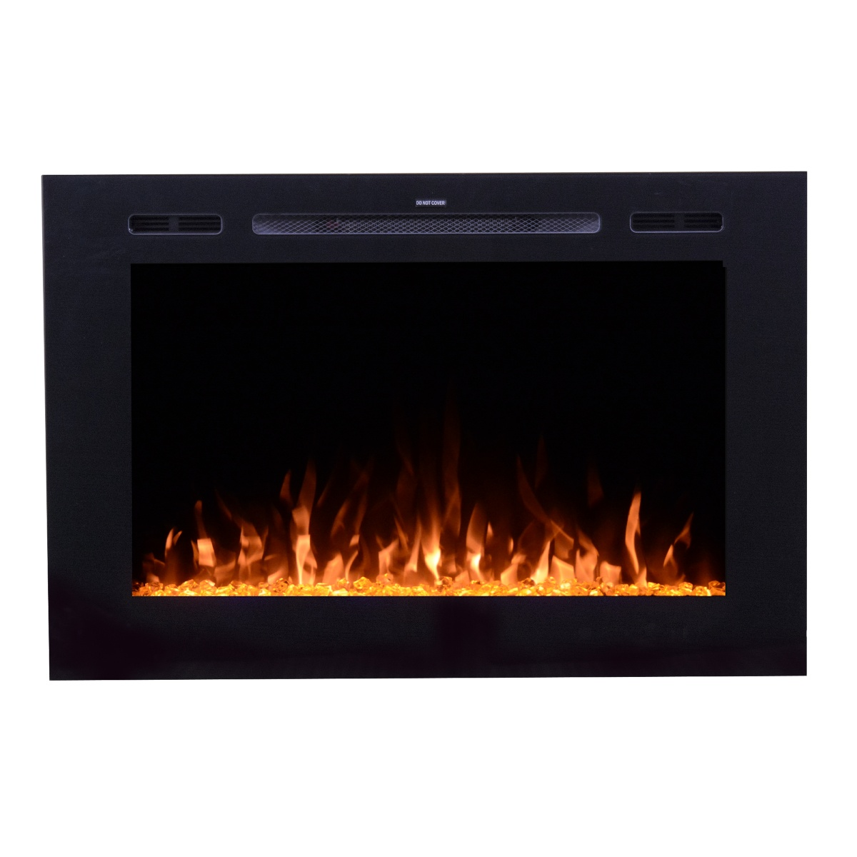 touchstone 80006 forte extra tall modern electric fireplace with glass front